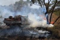 Bush fire   Transportation of water to extinguish fire