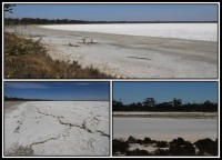 Large salt plains   Dry lakes without life