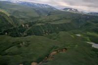 Relief | View from helicopter, near Kurile Lake