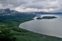 Kurile lake | View from helicopter