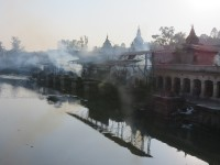 Pashupatinath Temple | Bagmati river, which is flushed down the ashes of deceased