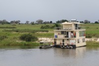 House boat on the Kwando river | National park Chobe