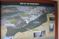 Map of the Victoria falls | Zimbabwe
