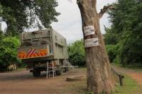 Close to river Kwando, camping site | N.P. Chobe, Kasane