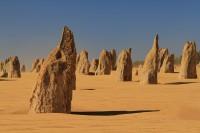 The pinacles desert   Weathered rock spires, Nambung National Park