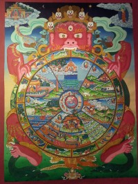 Bhavacakra | Wheel of life or wheel of cyclic existence or wheel of becoming.