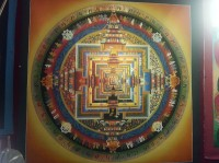 Kalachakra mandala | That means wheel of time or